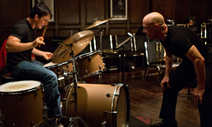 Miles Teller and JK Simmons in Whiplash. Photograph: Rex Features