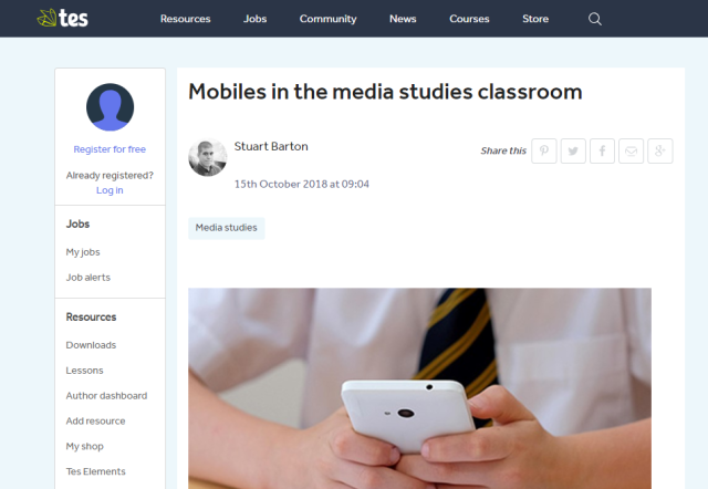 Mobiles in the Media Studies Classroom - TES.com